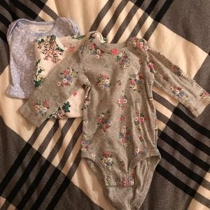 Three long sleeve baby pack